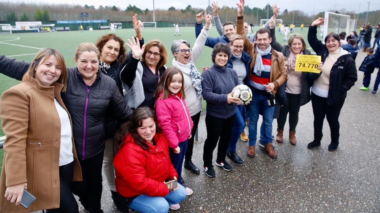 Alegría en el fútbol de Ponteareas: el SD Vila do Corpus repartió parte del quinto 74770