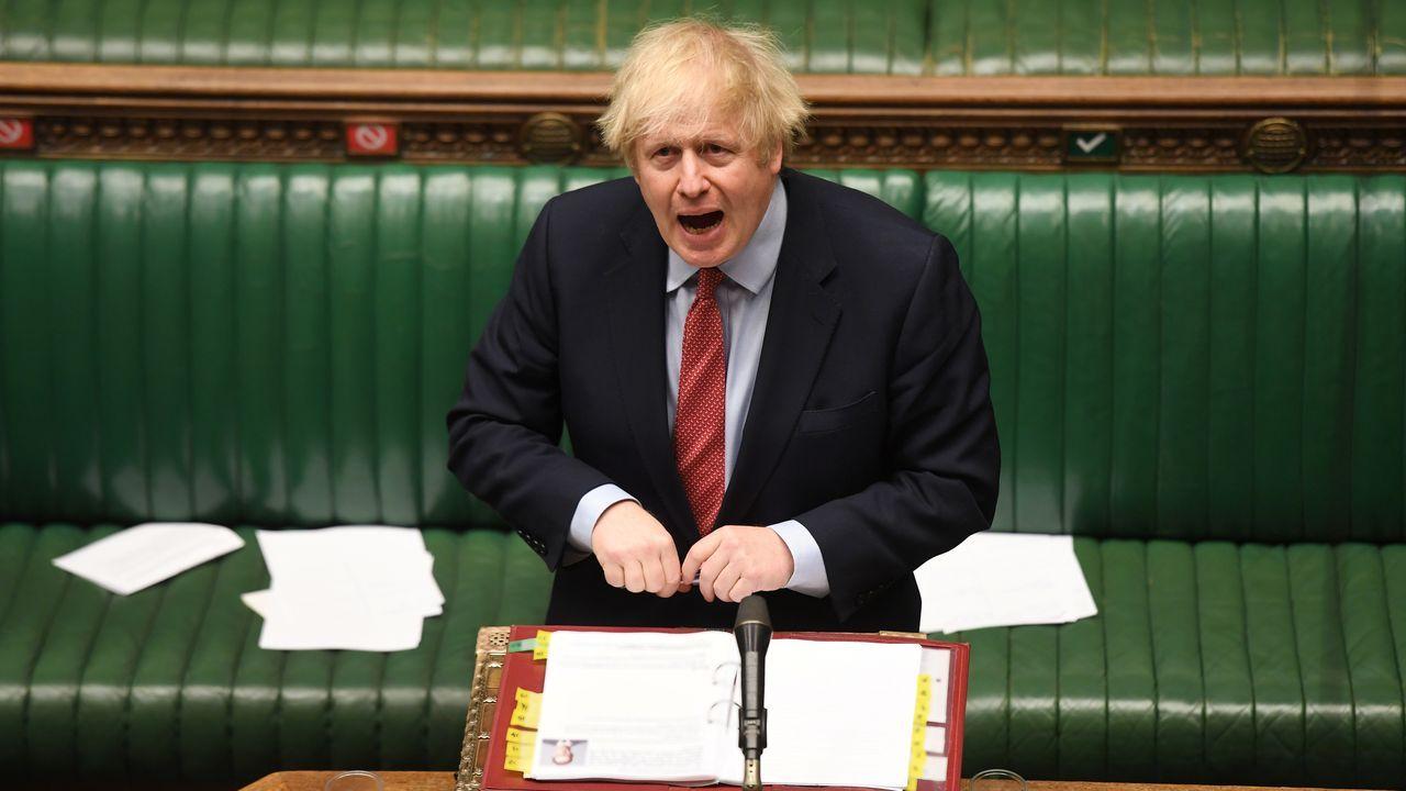 Boris Johnson, durante su comparecencia este miércoles en la Cámara de los Comunes