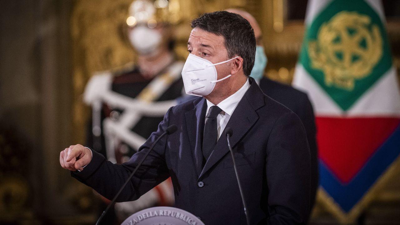 Matteo Renzi, en su comparecencia tras reunirse con Mattarella