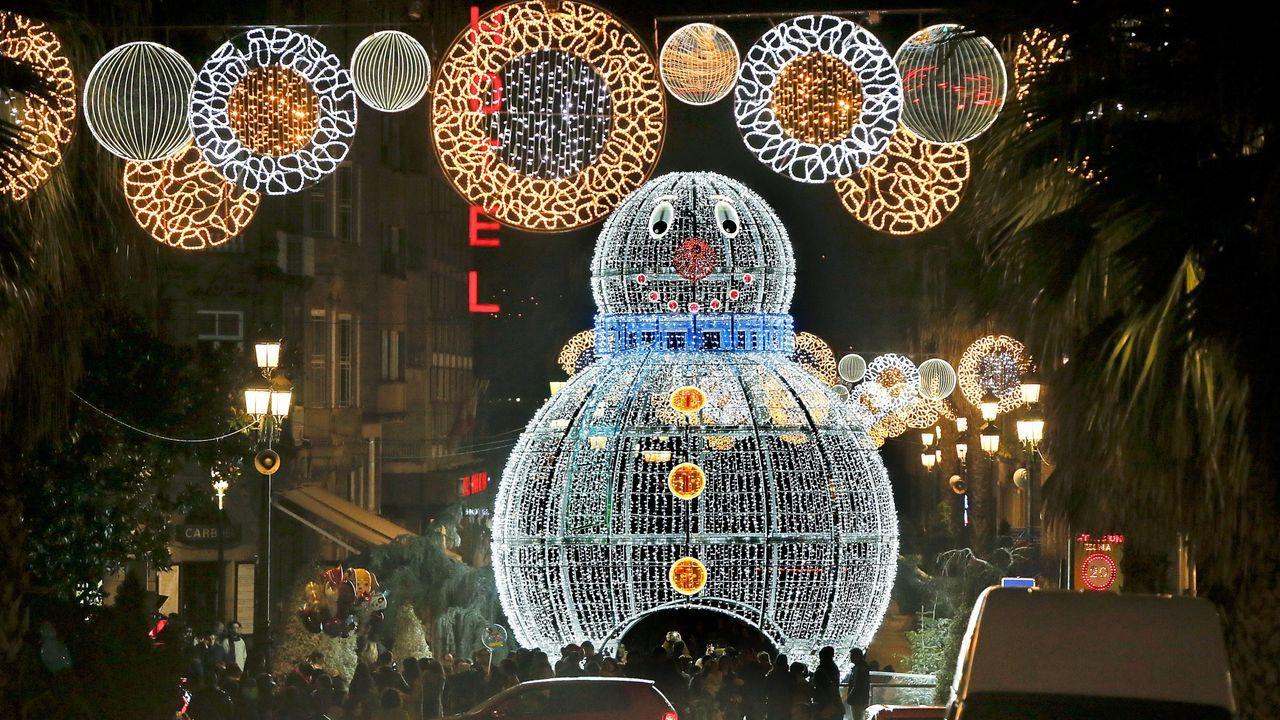Luces de Navidad en Vigo en el 2018