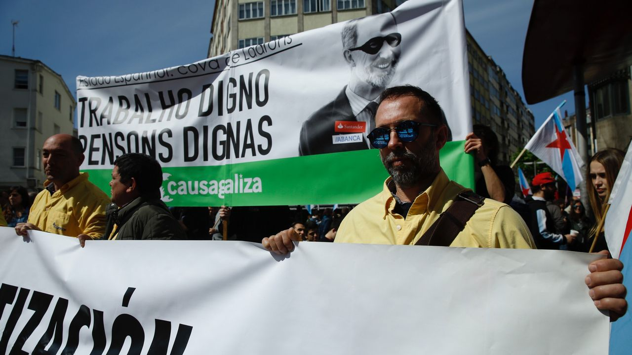Dia del Trabajo. Manifestación por el 1 de Mayo en Santiago