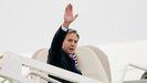 El secretario de Estado de EE.UU., Antony Blinken, a su partida de Washington