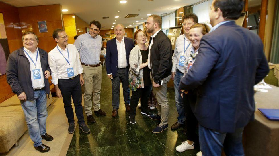 Felicidad en la sede del PP en Galicia.