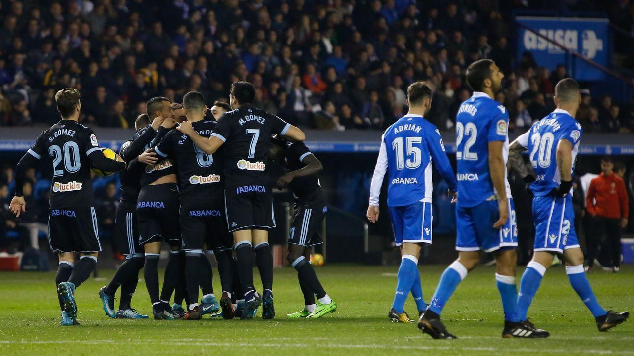 Deportivo-Celta (1-3) en Primera el 23 de diciembre del 2017. Doblete de Aspas