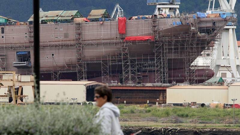 Botadura del «Adelaide» en Ferrol.Construcción del «Adelaide» en Navantia Ferrol