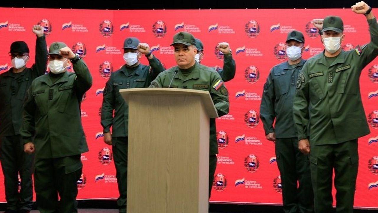 El ministro de Defensa venezolano, Vladimir Padrino, durante una comparecencia en mayo