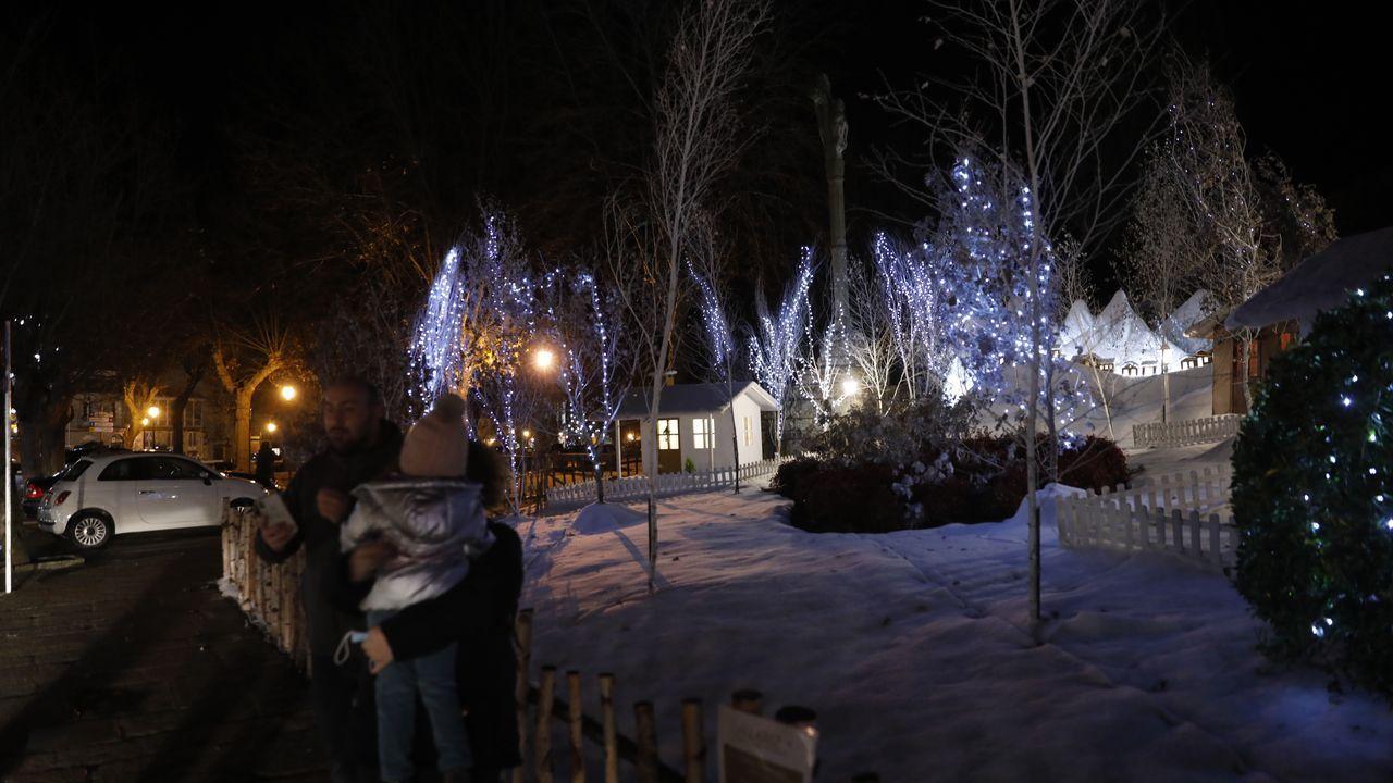 La provincia se ilumina por Navidad.La asociación Apetéceme ser amigo da área sanitaria recauda fondos para el Banco de Alimentos