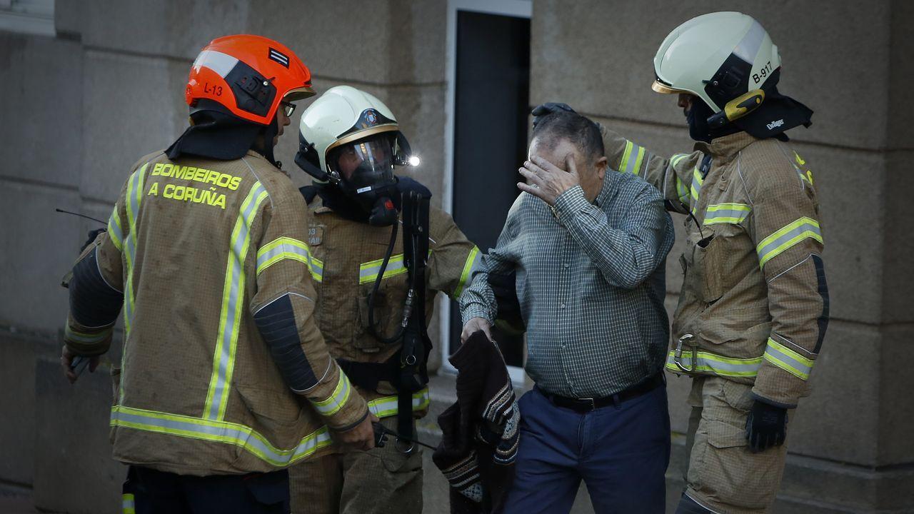 Incendió en un edificio de Monte Alto