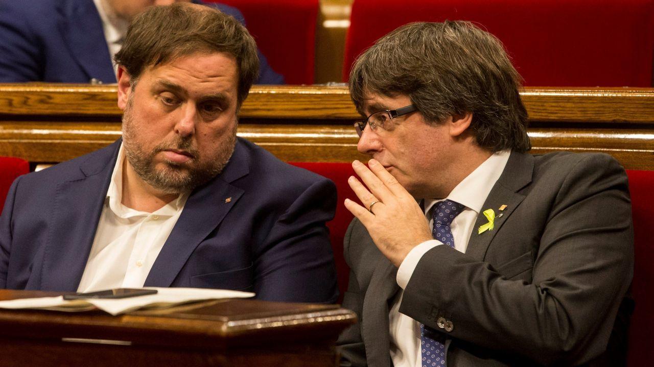| EFE.Junqueras y Puigdemont mantienen un enfrentamiento personal desde que compartían escaño