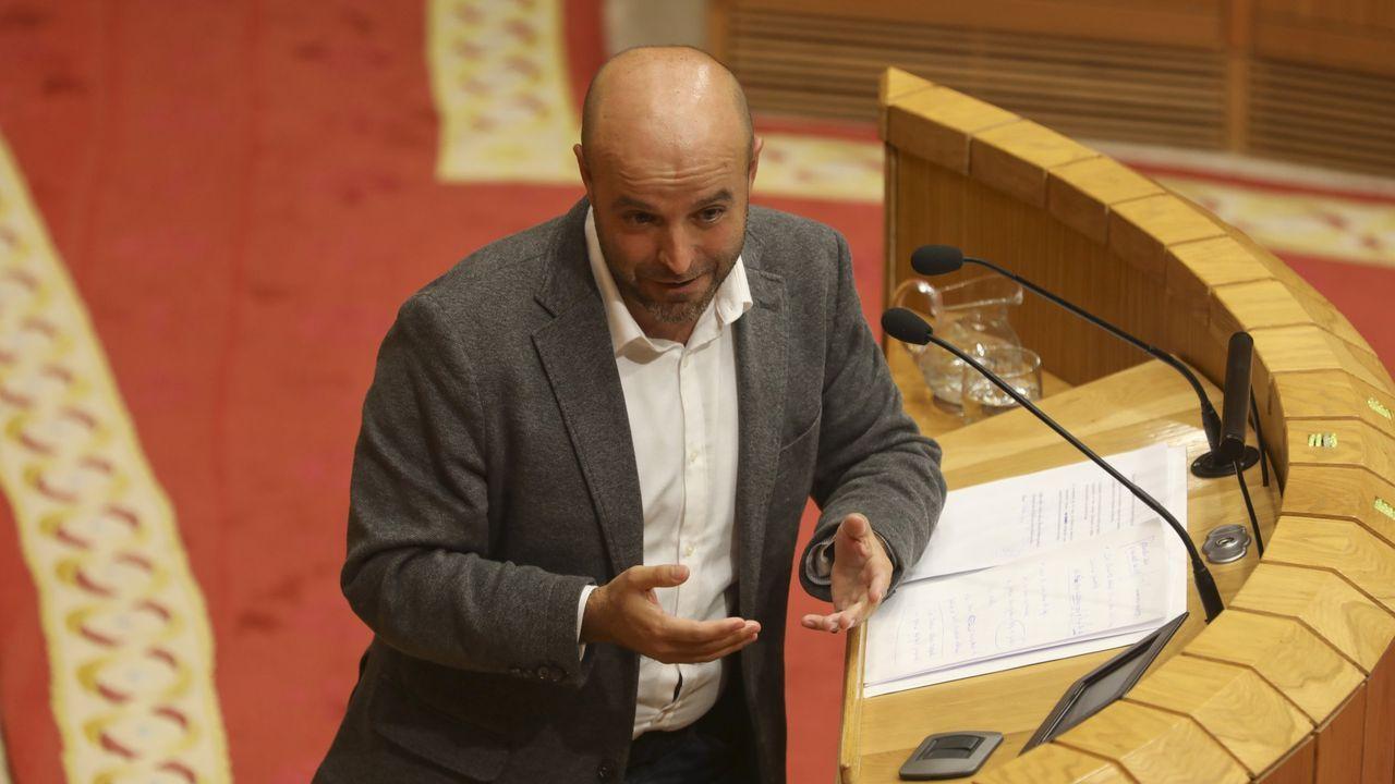 Alfonso Rueda, este martes, en el Parlamento de Galicia