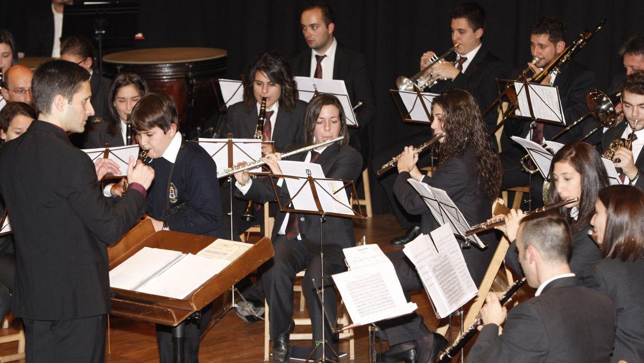 Concierto de la Banda de Chantada con motivo del 150 aniversario de su fundación, en una imagen de archivo