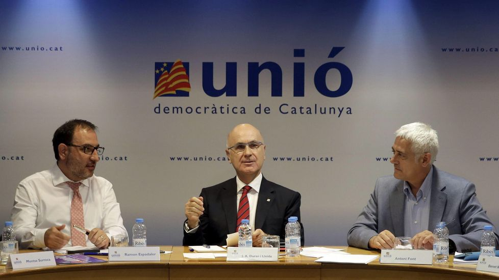 El sector de UDC encabezado por Josep Antoni Duran Lleida podría presentarse en solitario a las próximas elecciones.
