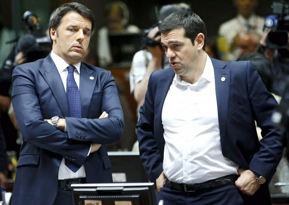 Corralito en Grecia.Renzi y Tsipras en Bruselas el 25 de junio.