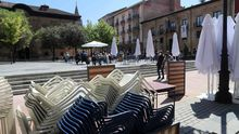 Una terraza en Oviedo