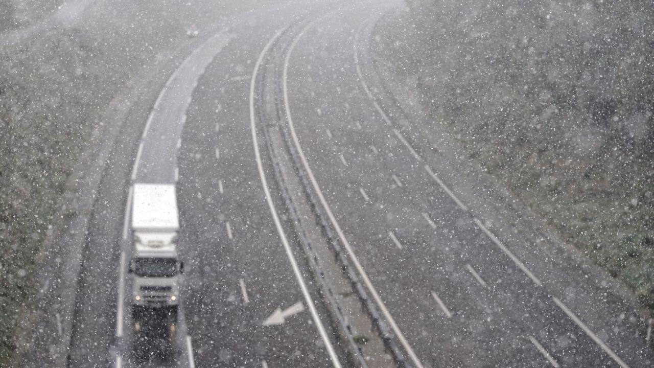 Nieve en Ourense el 31 de marzo