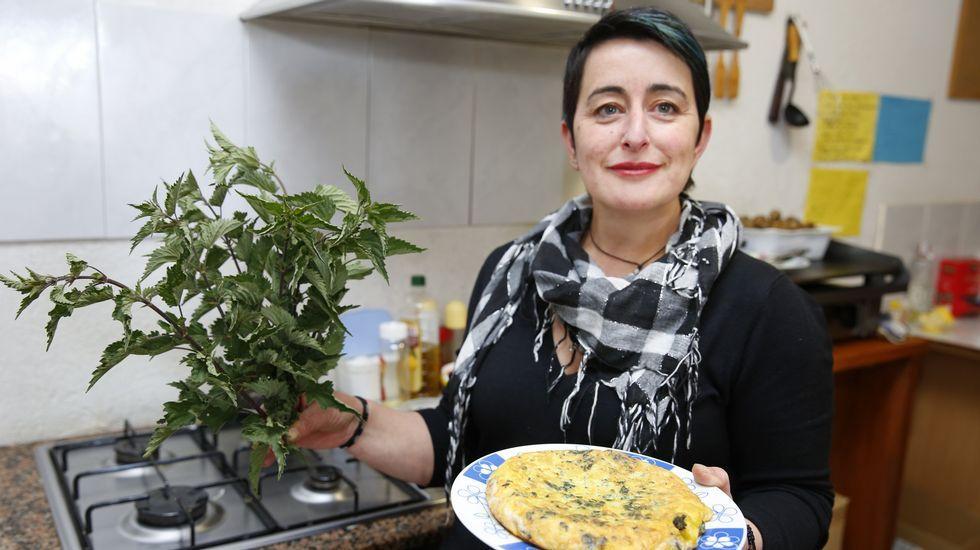 Una tabernera brava que cocina con ortigas