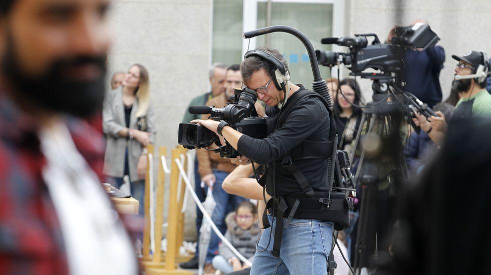Diferentes cámaras gravaban todo o que acontecía detrás dos fogóns