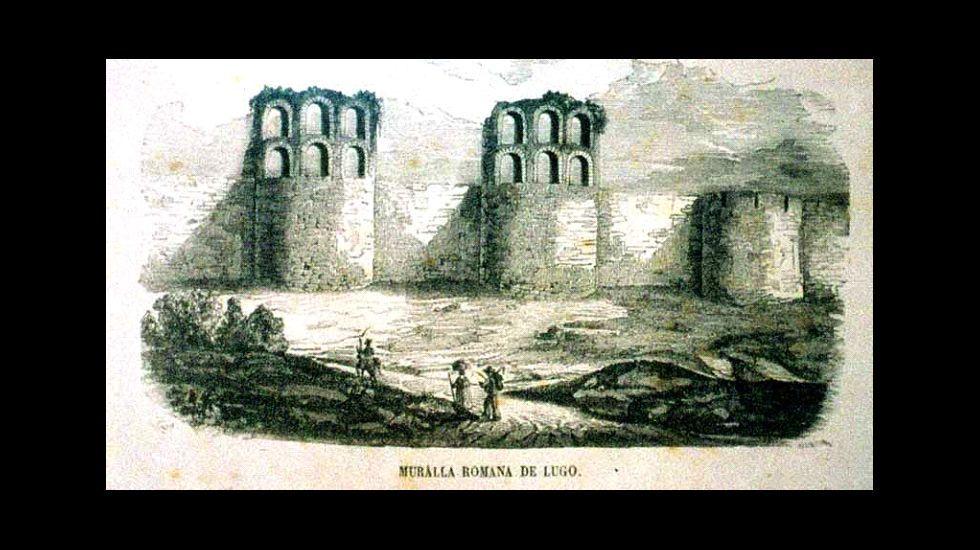 Famoso gravado realizado por Antonio Neira Mosquera en 1850 para o «Semanario Pistoresco Español».