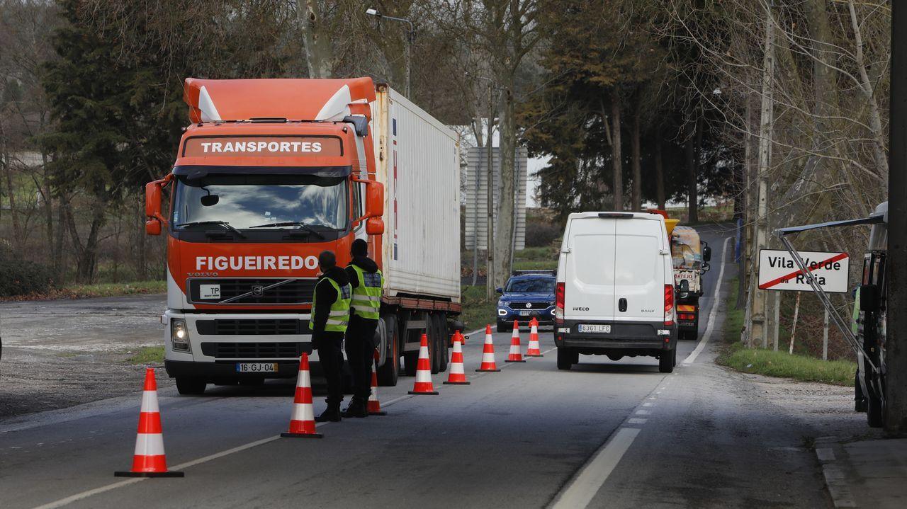 Controles en la frontera con Portugal