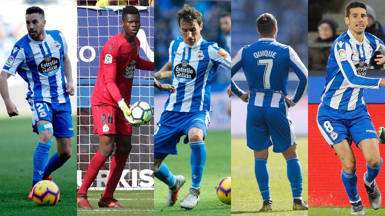 Las mejores imágenes del debut del Deportivo ante el Oviedo.Juan Antonio Anquela y Sergio Egea