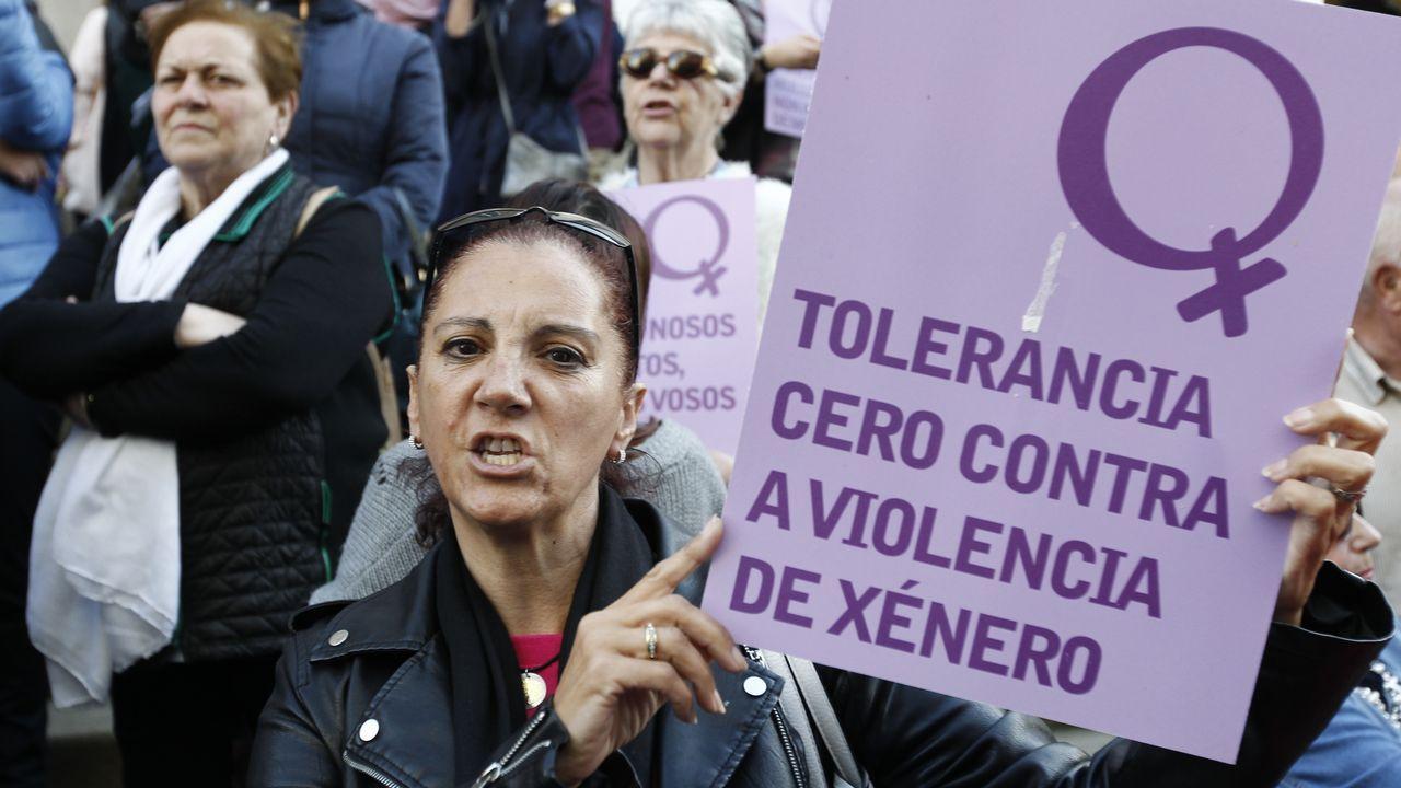 Manifestación en el centro de Vigo