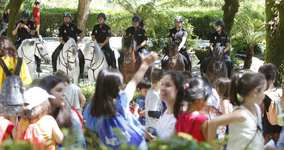 Despliegue policial en Compostela