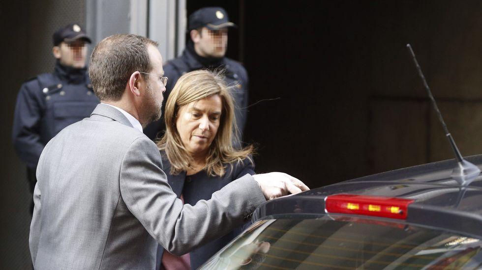 Ana Mato abucheada en la Audiencia Nacional.Ana Mato, el pasado enero en un comitó ejecutivo del PP