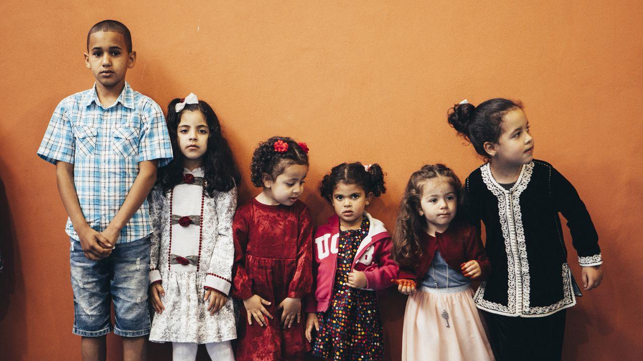 Niños en la fiesta del fin del Ramadán en Oviedo