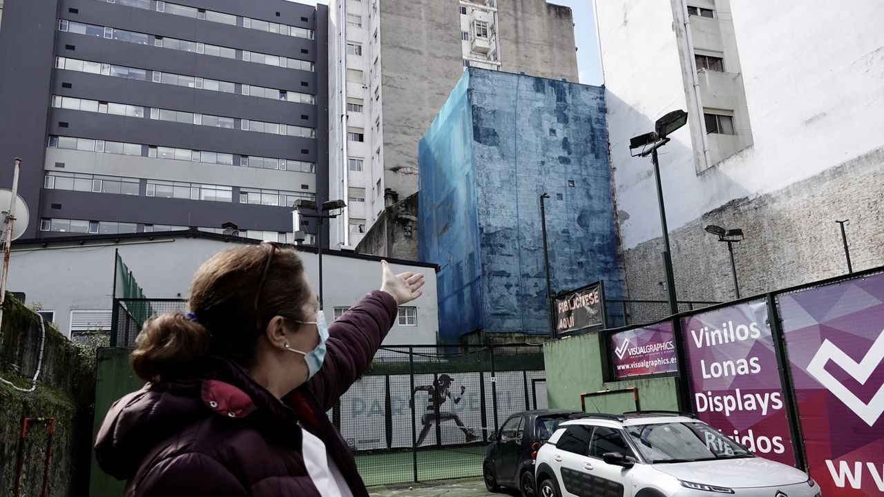 Derriban una casa ilegal en Vigo y dan nuevas vistas a los vecinos.La calle Fermín Rivera, en el barrio de A Ponte