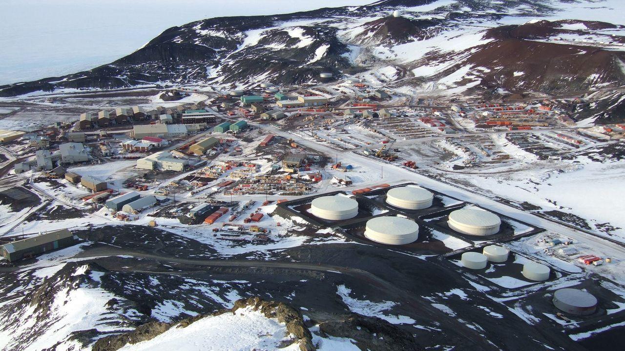 Imagen de la base McMurdo de Estados Unidos en la Antártida