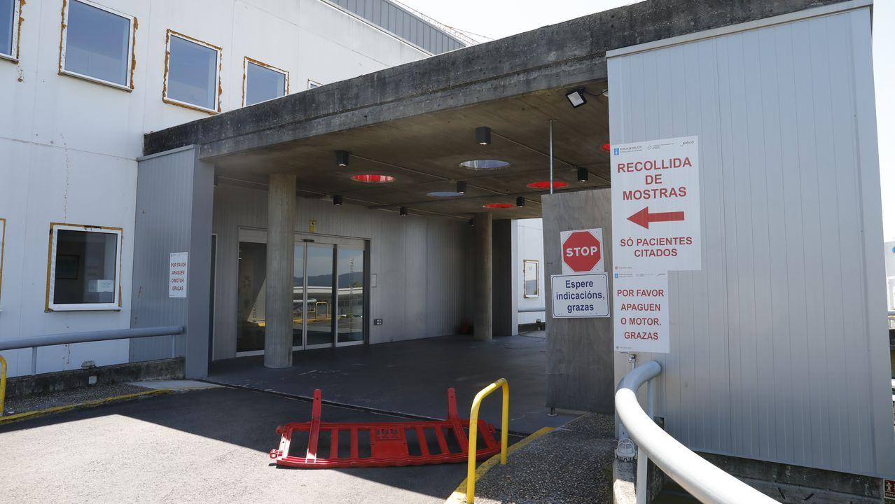 Sala de espera del centro de salud del Sagrado Corazón, en Lugo
