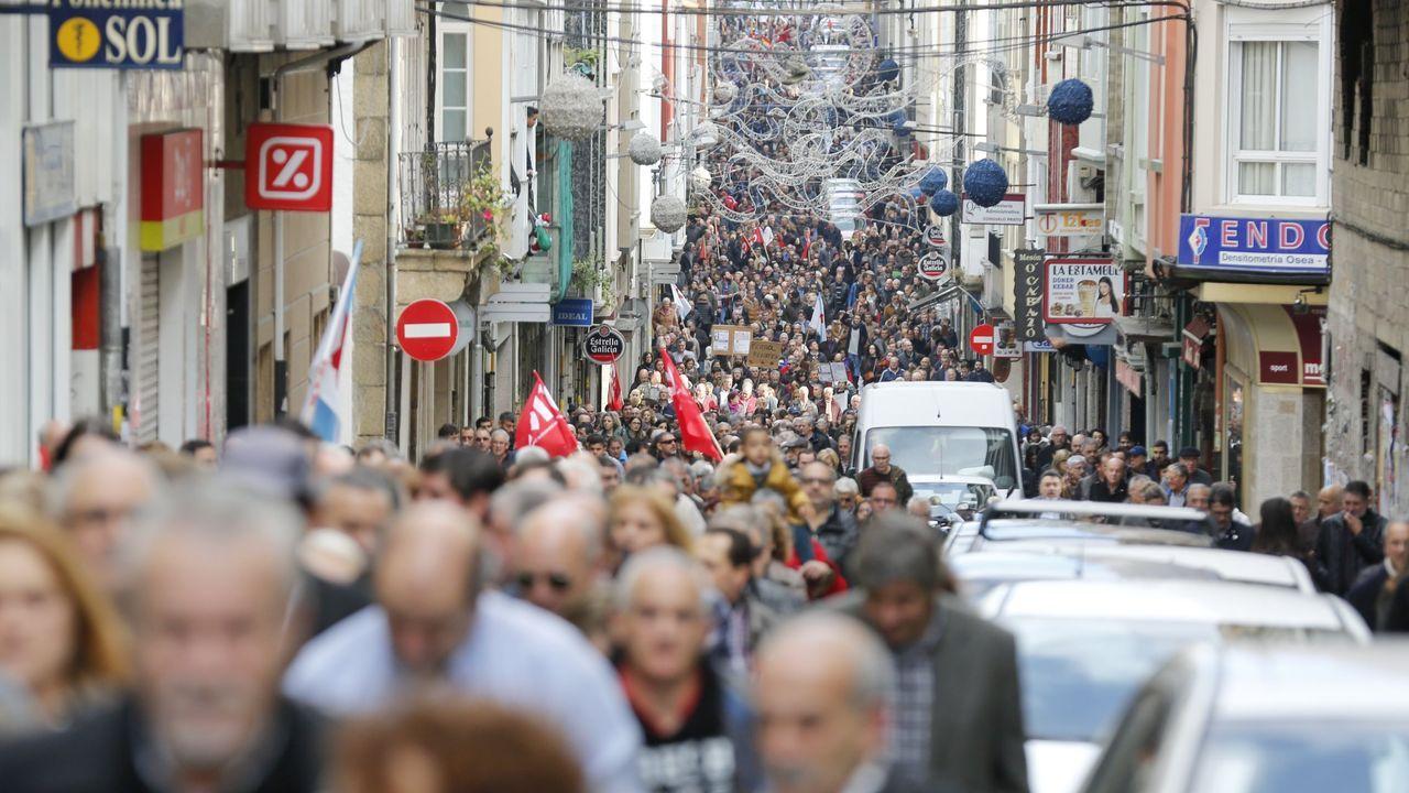 Una manifestación de ámbito comarcal, en foto de archivo