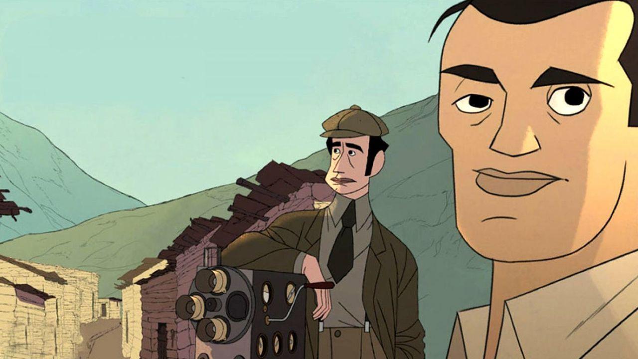 Fotograma del filme de animación «Buñuel en el laberinto de las tortugas»