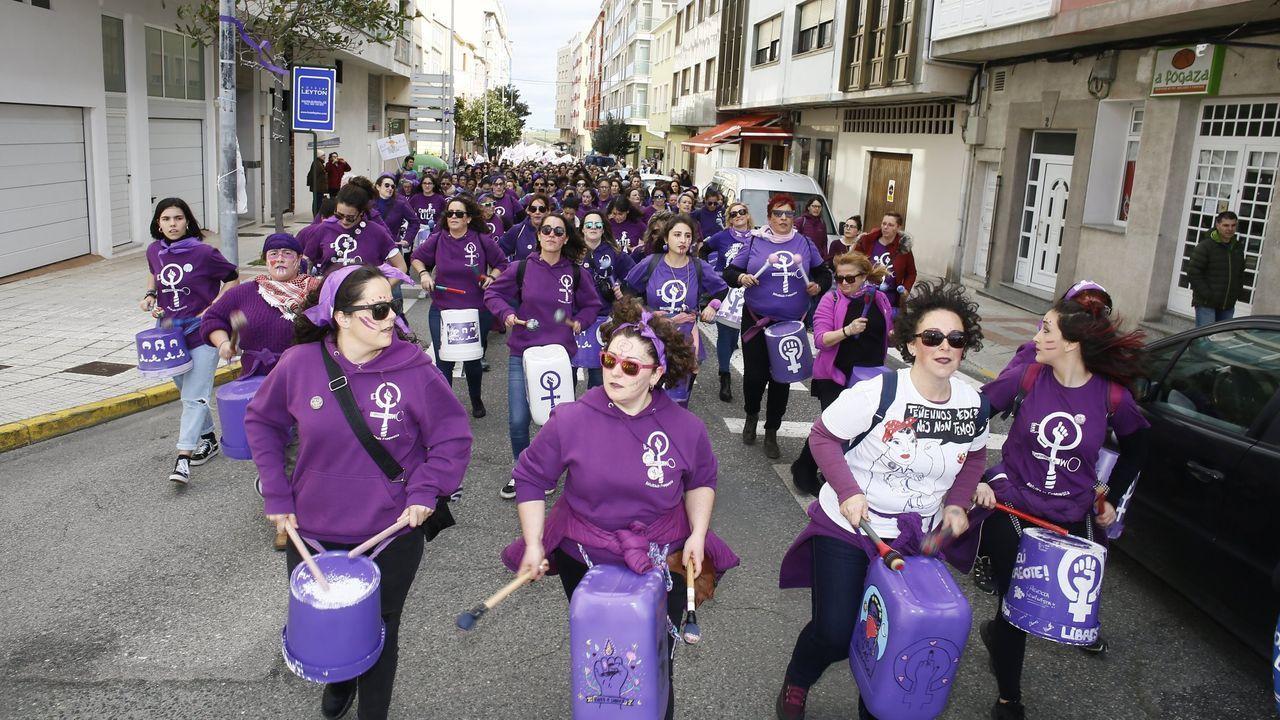 Manifestación celebrada en marzo del 2020 por las calles de Foz