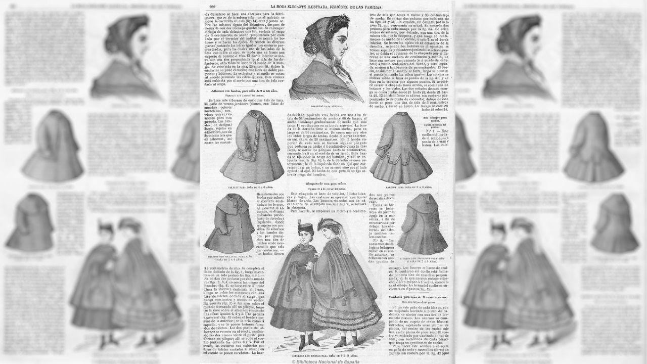 Modelos realizados con la tela velutina descritos en la revista «La moda elegante ilustrada»