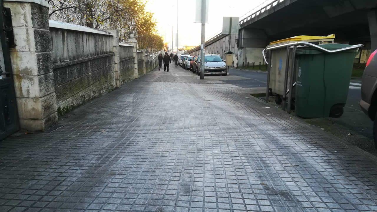 Calles heladas en A Coruña