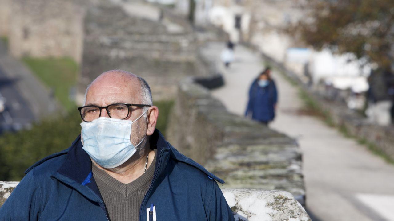 20 fotos para 20 años de la Muralla de Lugo Patrimonio de la Humanidad.El arqueólogo Enrique Alcorta
