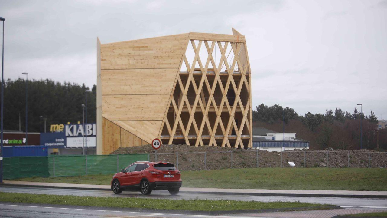 La estructura exterior del edificio estará totalmente instalada dentro de varias semanas
