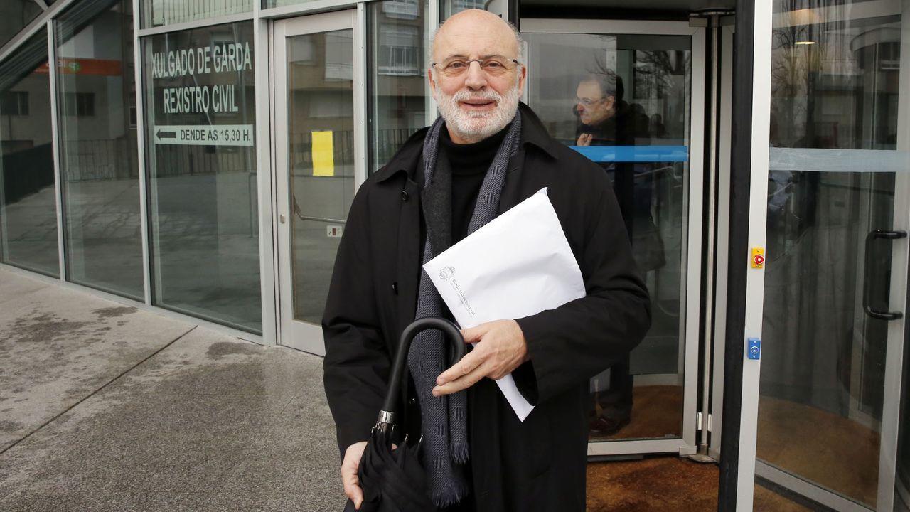 Manuel Cabezas, cuando prestó declaración en los juzgados de Ourense en marzo del 2016