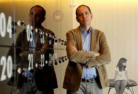 Labandeira, en la Fundación Barrié de Vigo, durante las reuniones previas.