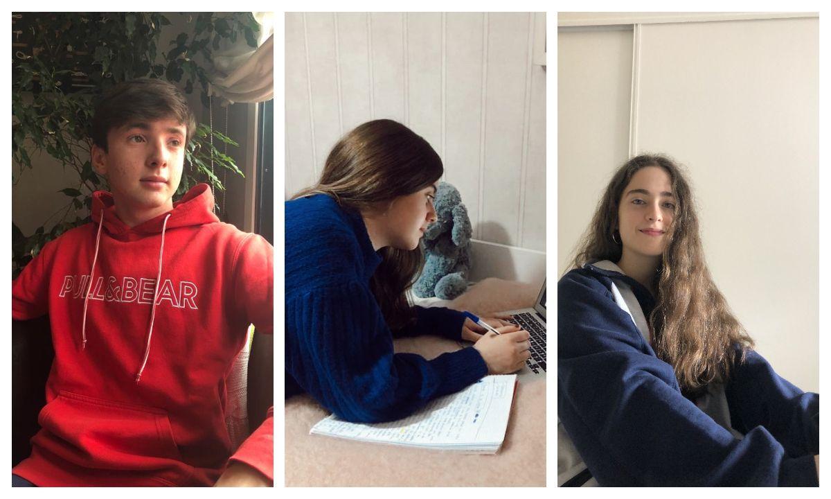 Alumnos del IES Sánchez Cantón de Pontevedra que elaboran un diario de la pandemia