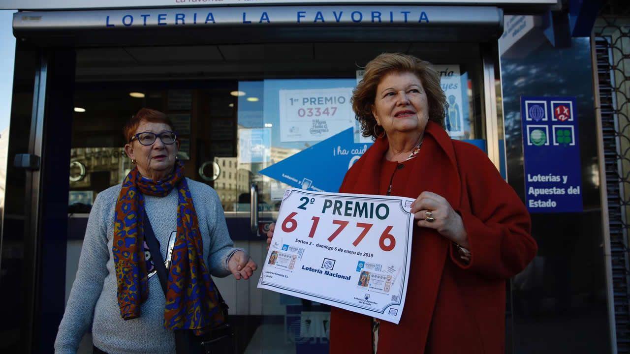 La Favorita, en A Coruña, vendió un billete del segundo premio