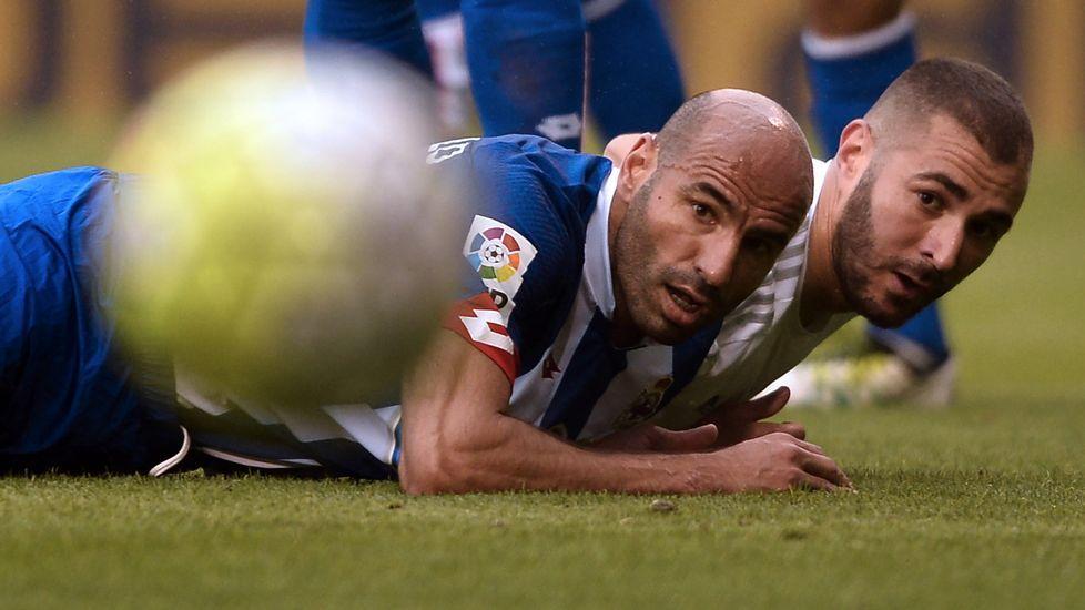 Manuel Pablo, contra el Real Madrid en el último partido de Liga