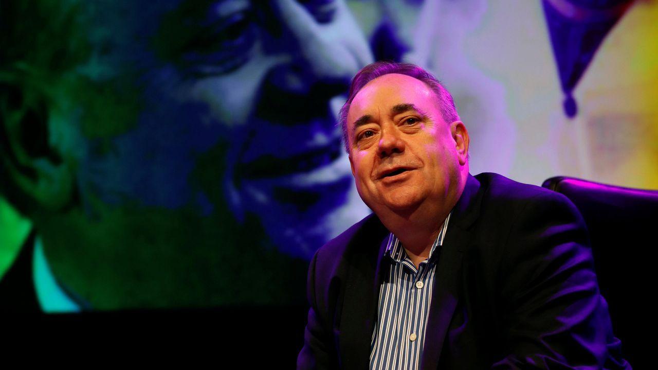 | EFE.Alex Salmond, a su llegada al tribunal de Edimburgo