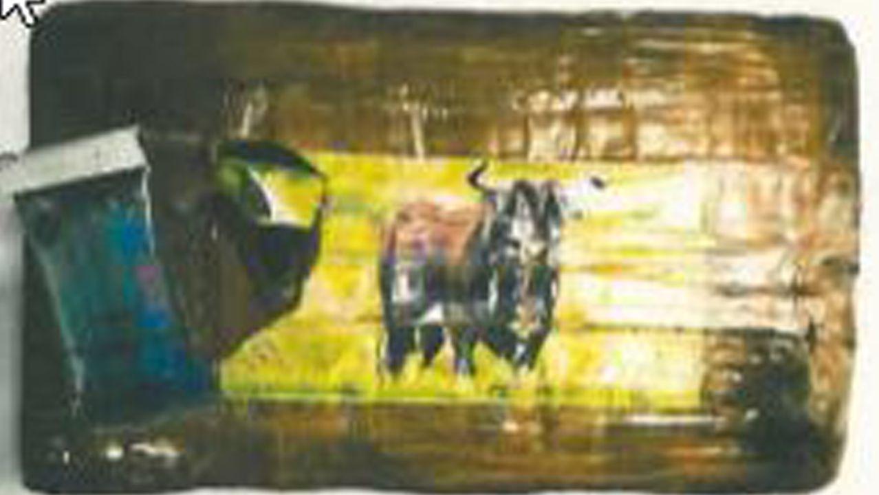 Los fardos estaban identificados con animales populares en España y Sudamérica como este toro bravo