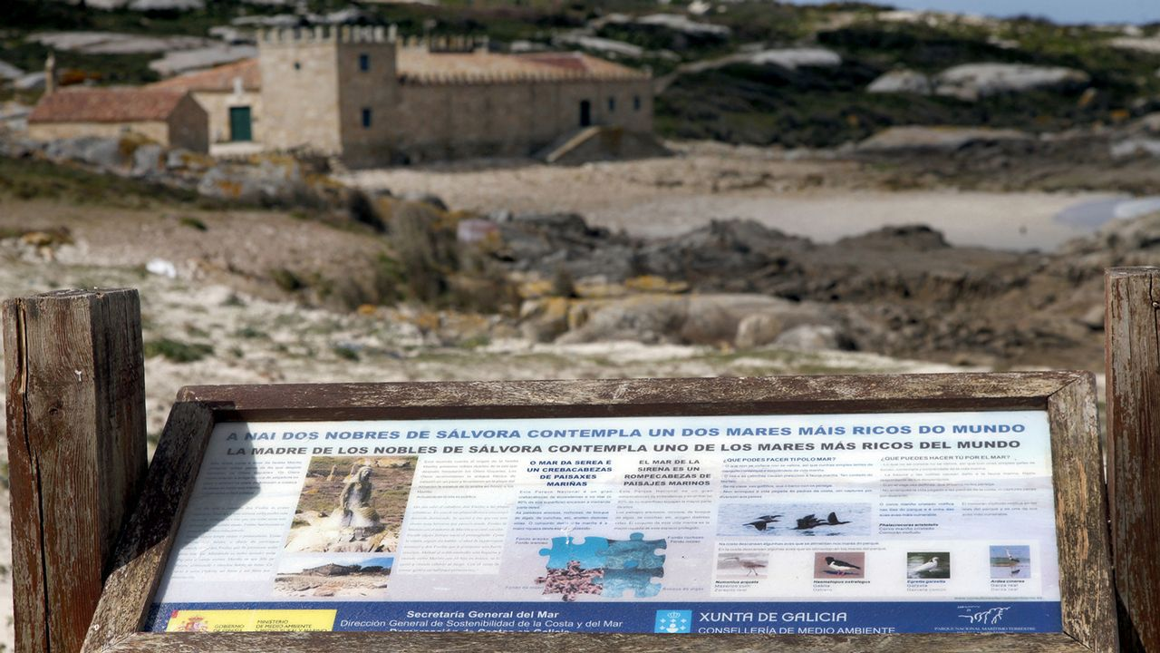 La nueva cara del castillo de Soutomaior.Ecomuseo Minero Valle de Samuño