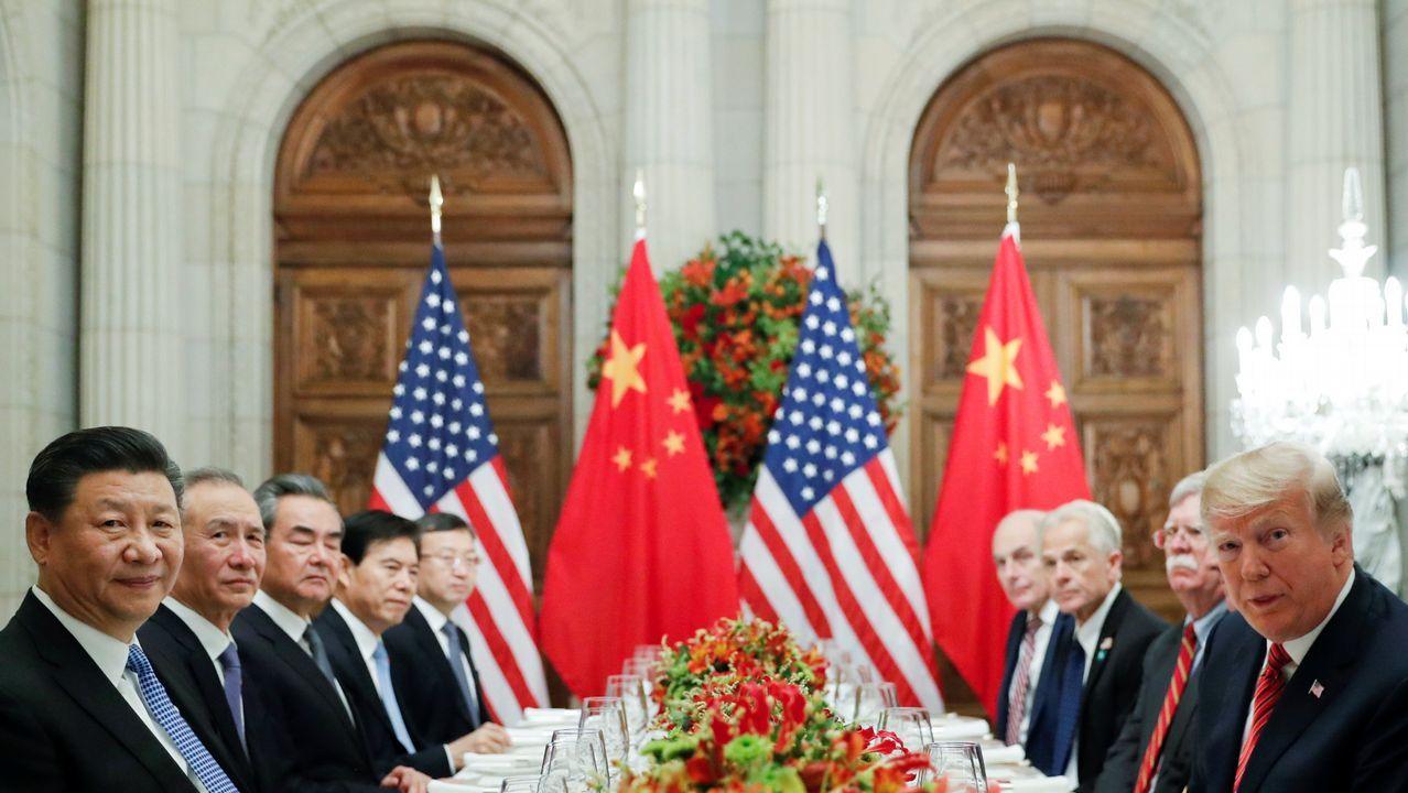 Xi y Trump, en primer término de la imagen, durante su reunión en Argentina