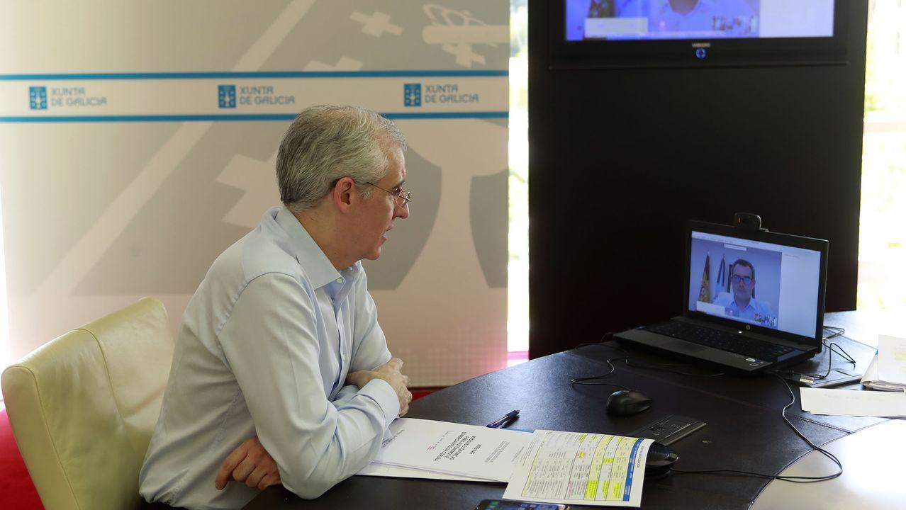 Videoconferencia de Francisco Conde con autonómos y pequeños empresarios ourensanos
