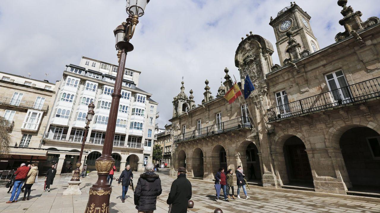 Alumbrado navideño en Lugo