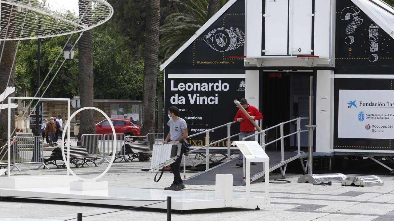 La obrade Leonardo Da Vinci se instala enlos jardines de Méndez Núñez